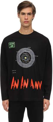 An An Ann Ordbit Long Sleeve Tee Cotton T-Shirt