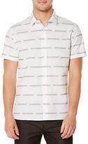 Perry Ellis Striped Cotton Sportshirt