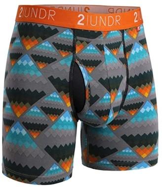 2UNDR Swing Shift Boxer Briefs (Black/Grey) Men's Underwear