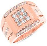 Allurez 0.79ct 14k Rose Gold Diamond Men's Ring