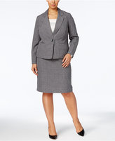 Le Suit Plus Size Plaid Skirt Suit