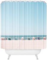 Deny Designs Hello Twiggs Beach Huts Shower Curtain