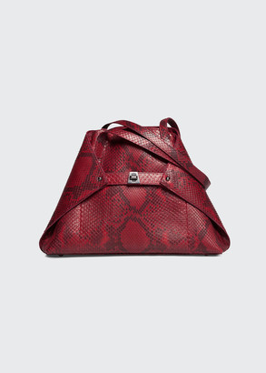 Akris Ai Small Soft Python Shoulder Bag