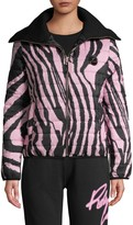 Roberto Cavalli Sport Zebra-Print Puffer Jacket