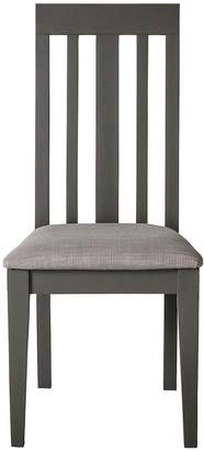 Hudson Living Pair of Cookham Solid Oak Dining Chairs - Grey