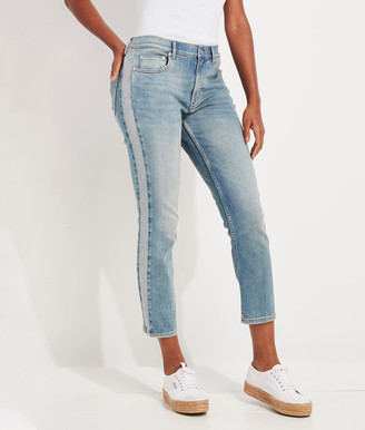 Vineyard Vines Straight Leg Cropped Side Panel Jamie High-Rise Jeans