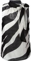 Moschino striped blouse - women - Polyamide/Polyester/Rayon - 46