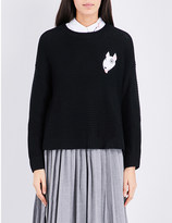 Chocoolate Dog patch knitted jumper