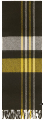 Mackage Yellow and Khaki Wool Ranger Scarf