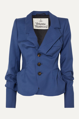 Vivienne Westwood Gathered Wool Blazer - Blue