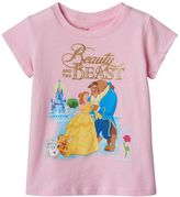 Disney Disney's Beauty & The Beast Belle, Beast & Cogsworth Toddler Girl Tee