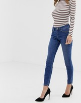 Asos Design DESIGN Lisbon mid rise skinny jeans in bright blue wash