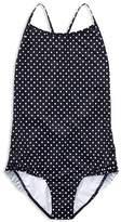 Ralph Lauren Polo Girls' Dotted & Ruffled One-Piece Swimsuit - Big Kid