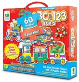 The Learning Journey Puzzle Doubles, Giant ABC & 123 Train Floor Puzzles