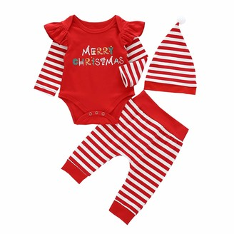 Hat 3pcs Clothes Set for 0-18 Months FYMNSI Newborn Baby Boy Coming Home Outfit Ladies I Have Arrived Cotton Long Sleeve Romper Dinosaur Camouflage Pants