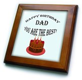 3dRose LLC Ice Bucket - Birthday - Happy Birthday Dad You Are the Best with cake image - (ft_211220_1)
