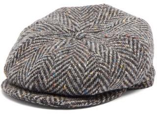 Lock & Co Hatters Tremelo Wool-tweed Flat Cap - Grey