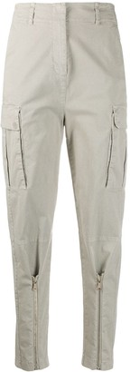 Pinko High Waisted Cargo Trousers