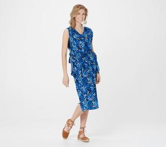 Denim & Co. Beach Woven Sleeveless Midi Cover-Up Dress