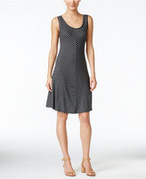 Style&Co. Style & Co. Petite Chevron-Print A-Line Dress, Created for Macy's