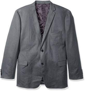 U.S. Polo Assn. Men's Big and Tall Linen Sport Coat Grey 52 Long