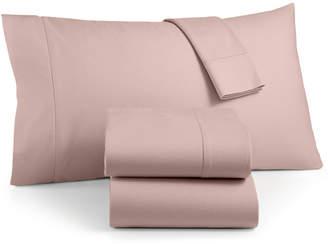Martha Stewart Collection Luxury 100% Cotton Flannel 4-Pc. Queen Sheet Set