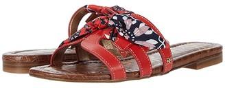 Sam Edelman Bay 12 (Cherry Se/Cherry Multi Vaquero Saddle Leather/Floral Scarf Print) Women's Shoes