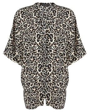 Dorothy Perkins Womens Black Leopard Print Cover Up, Black