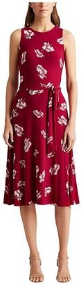Lauren Ralph Lauren Felia Dress (Very Berry/Colonial Cream) Women's Dress