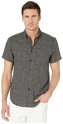 Naked & Famous Denim Short Sleeve Easy Shirt (Kimono Scales) Men's Clothing