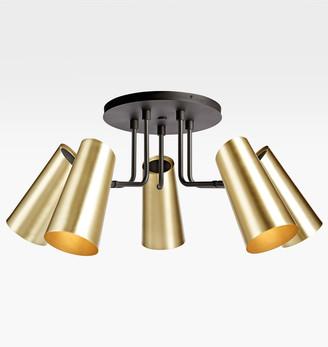 Rejuvenation Cypress 5-Arm Semi-Flush Fixture