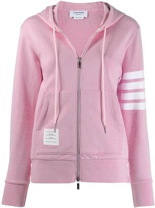 Thom Browne 4-Bar zip-up hoodie