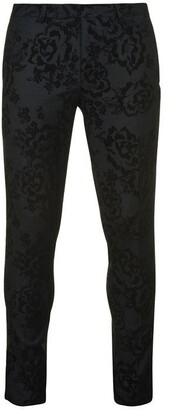 Twisted Tailor Fleet Floral Skinny Fit Tuxedo Trousers
