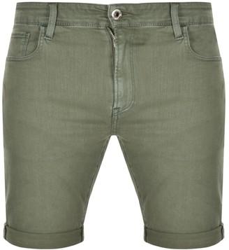 G Star Raw 3301 Denim Shorts Green