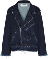 Marques Almeida Marques' Almeida Oversized frayed denim biker jacket