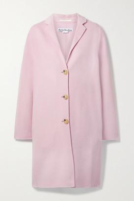 Acne Studios Oversized Wool-felt Coat - Lilac