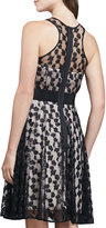 Milly Lace-Overlay Sweetheart Dress