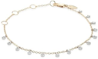 Meira T Diamond & 14K Two-Tone Gold Dangle Bracelet