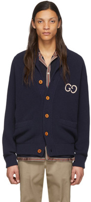 Gucci Navy Wool Cardigan