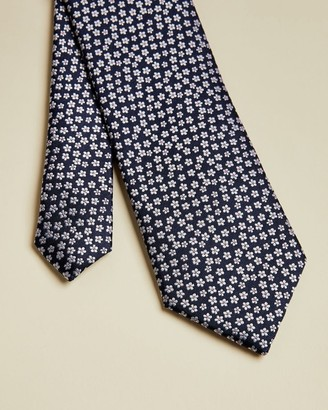 Ted Baker Small Floral Print Silk Tie