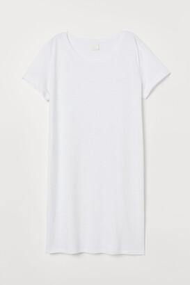 H&M Jersey T-shirt Dress - White