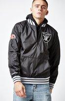 Mitchell & Ness Oakland Raiders Quarter Zip Nylon Jacket