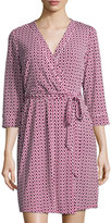 Laundry by Shelli Segal Chain-Link-Print Wrap Dress, Vivid Pink