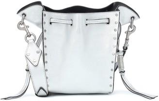 Isabel Marant Exclusive to Mytheresa Radja metallic leather bucket bag
