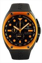 Avio Men's SA BK 2002 Super Tonneau Black PVD Steel Case Aluminum Interchangeable Bezel Luminous Chrono Tachymeter Watch