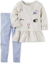 Carter's 2-Pc. Winking Cat Peplum Tunic & Leggings Set, Baby Girls (0-24 months)