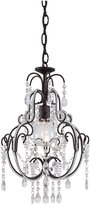 "Minka Lavery Miniature Chandeliers 3123-489 Mini 1-LT 60w (20""H x 12 1/2\""W) Chandelier in Bronze"