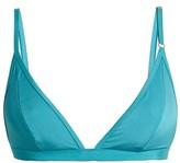Bower - Bad Love Triangle Bikini Top - Womens - Turquoise