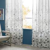 west elm Sheer Cotton Fading Soft Triangles Curtains (Set of 2)