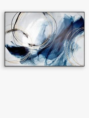 John Lewis & Partners Isabelle Z - Detour Framed Canvas, 96.5 x 141.5cm, Blue/Multi